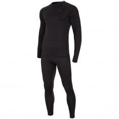 4F Thermodry ski underwear, set, mens, deep black
