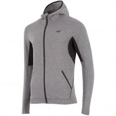 4F Warm Hoodie, fleece jacket, men, grey