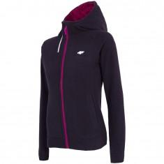 4F Warm Hoodie, fleece jacket, women, black