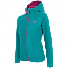 4F Warm Hoodie, fleece jacket, women, dark green