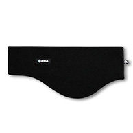 Kama headband, wide, Tecnopile fleece, black