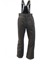 Deluni ski pants in large sizes, black