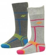 4F Ski Socks, kids ski socks, 2-pack