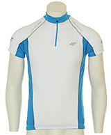 4F Thermodry white bike t-shirt, men,
