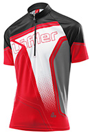 Löffler Bike-Trikot Performance Hz-Cf Race Light bike t-shirt, men, red