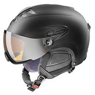 Uvex hlmt 300 ski helmet with Visor, Mat Black