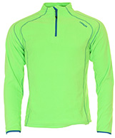 Typhoon St. Moritz mens fleece underwear shirt, lime