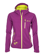 Kilpi Elia, womens soft shell jacket, violet