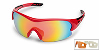 Demon Fuel sport sunglasses, red, 3 lenses