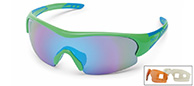 Demon Fuel sport sunglasses, green, 3 lenses