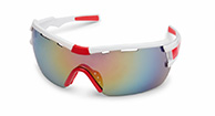 Demon Vuelta bicycle sunglasses, white/red