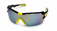 Demon Vuelta bicycle sunglasses, black/yellow
