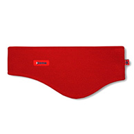 Kama headband, wide, Tecnopile fleece, red