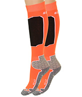 Seger Racer, Mens Ski Socks, 2-pair, orange