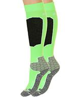 Seger Racer, Mens Ski Socks, 2-pair, neon