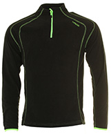Typhoon St. Moritz mens fleece underwear shirt, black
