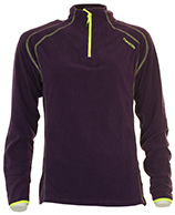 Typhoon St. Moritz girls fleece underwear shirt, purple