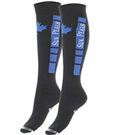 Sun Peaks Moby, Cheap Ski Socks, black/blue, 2-pair