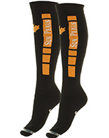 Sun Peaks Moby, Cheap Ski Socks, navy/orange, 2-pair