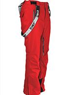 DIEL Anton mens ski pants, red