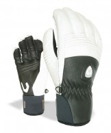 Level Off Piste Leather, gloves, black/white