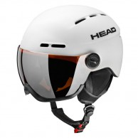 HEAD Knight ski helmet, w. Visor, white