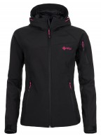 Kilpi Safira, womens softshell ski jacket, black