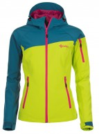 Kilpi Safira, womens softshell ski jacket, turquoise