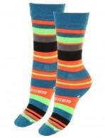 Seger Racer, wool ski socks for kids, 2-pack, green