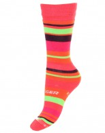 Seger Racer, wool ski socks for kids, pink