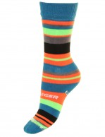 Seger Racer, wool ski socks for kids, green