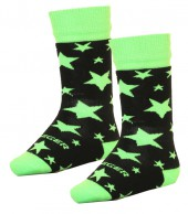 Seger Stars, wool ski socks for boys, 2-pack