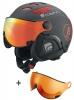 Cairn Cosmos Fire, serie 6, ski helmet with Visor, Mat Black