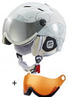 Cairn Spectral Visor, ski helmet with Visor, white