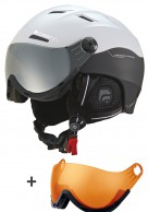 Cairn Spectral Visor, ski helmet with Visor, Mat black/white