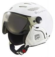Cairn Cosmos Chromax, Mat White, ski helmet with Visor