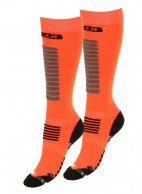 Seger Zone, Mens Ski Socks, 2-pair, orange