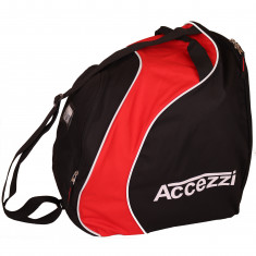 Accezzi Sapporo, boot- and helmet bag, black/red