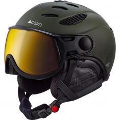 Cairn Cosmos Evolight, ski helmet with visor, forest night