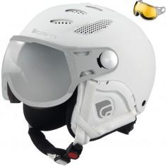 Cairn Cosmos Polarized, ski helmet with Visor, total white