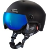Cairn Eclipse Rescue, ski helmet with visor, mat white blue