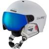 Cairn Eclipse Rescue, ski helmet with visor, mat black blue