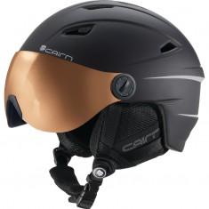 Cairn Electron Photochromic, ski helmet with Visor, Mat Black