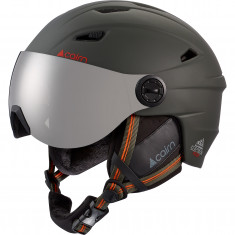Cairn Electron, ski helmet with visor, forest night orange