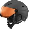 Cairn Electron, ski helmet with visor, mat white