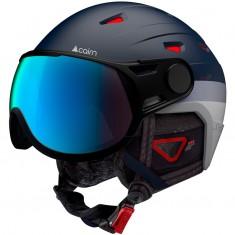 Cairn Shuffle Evolight, ski helmet with visor, midnight patriot