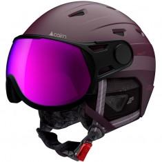 Cairn Shuffle Evolight, ski helmet with visor, plum orchid