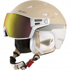 Cairn Shuffle S-Visor Evolight NXT, ski helmet with Visor, white cream