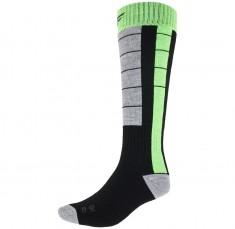 4F Mens Ski Socks, black/green