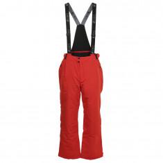 Deluni ski pants in large sizes, red